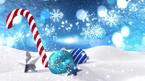 Seamless christmas scene with shooting star Animation