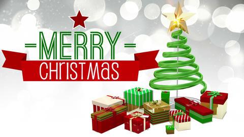 Seamless christmas scene with greeting Animation