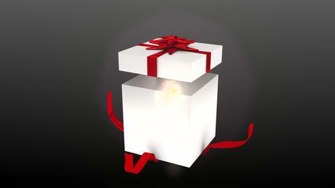 Seamless christmas present opening to reveal chroma key Animation