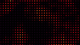 Digital orange led light show Animation