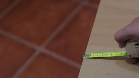 Handled Tape Measure stock footage
