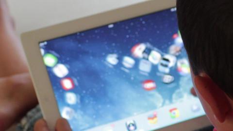 Boy and iPad Footage