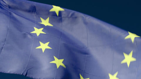 Fluttering Flag Of European Union stock footage