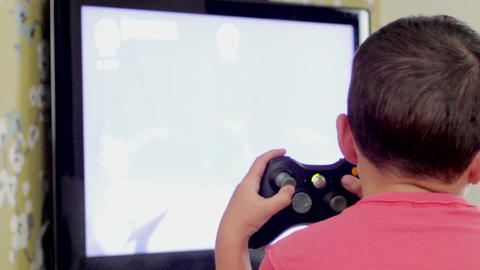 TV , kid Play Xbox Live Action