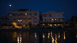 Night Life On Summer Resort Footage