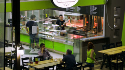 Quick Service Restaurant In Greece Footage