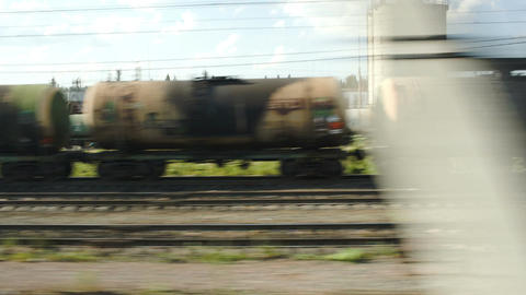 Passing By Industrial Facility stock footage