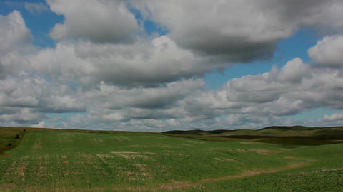 Clouds HIlls Shadows Timelapse Stock Video Footage