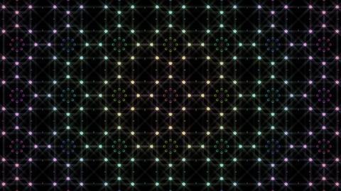 LED Light Kaleidoscope F2BiK2 HD Stock Video Footage