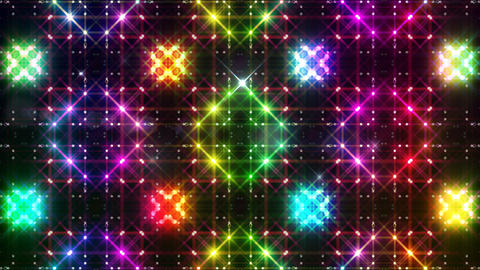 LED Light Kaleidoscope P2BoK3 HD Stock Video Footage