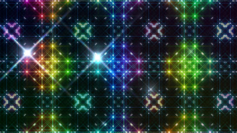 LED Light Kaleidoscope P2BoK3 HD Stock Video Footage