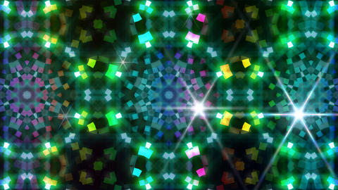 LED Light Kaleidoscope P3BoK4 HD Stock Video Footage