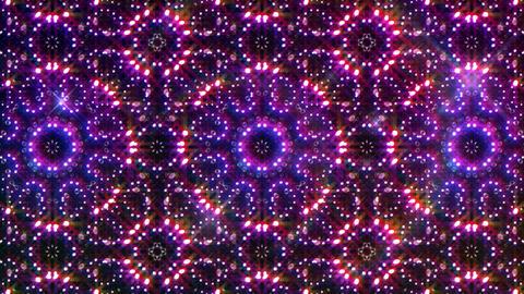 LED Light Kaleidoscope W2BiK3 HD Stock Video Footage