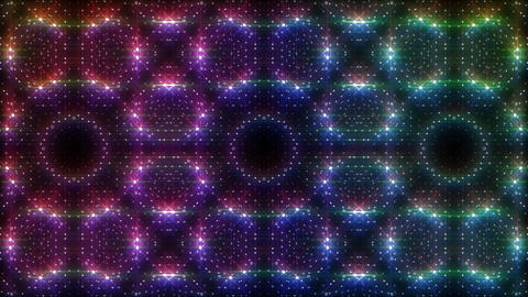 LED Light Kaleidoscope W2BoK1 HD Stock Video Footage