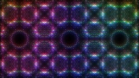 LED Light Kaleidoscope W2BoK1 HD Stock Video Footage