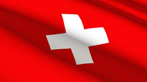 4K Swiss Linen Flag Seamless Loop Stock Video Footage