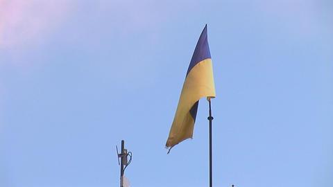 flag ua Stock Video Footage