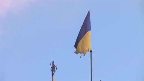 Flag Ua stock footage