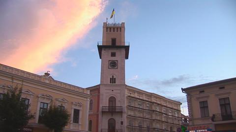 kolomya tower 2 Stock Video Footage