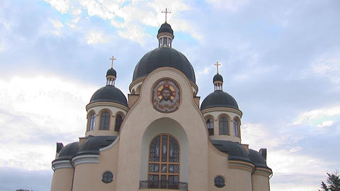 greek catholic church 2 Stock Video Footage