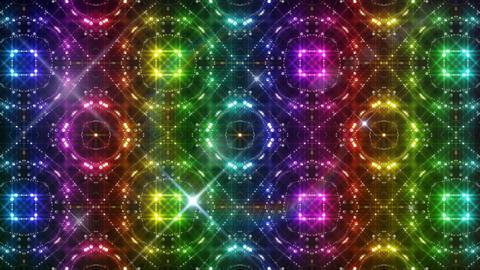 LED Light Kaleidoscope C2BoK2 HD Stock Video Footage