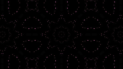 LED Light Kaleidoscope C3BoK1 HD Stock Video Footage