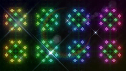 LED Light Kaleidoscope C3BoK3 HD Stock Video Footage