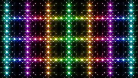 LED Light Kaleidoscope F2BiK1 HD Stock Video Footage