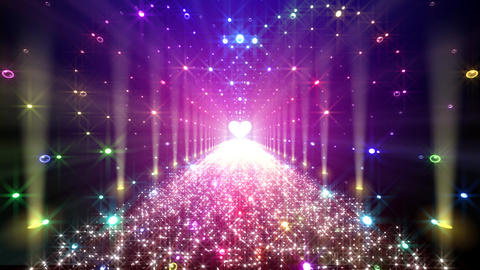 LED Light Heart 4 H1LB1 HD Stock Video Footage