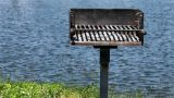 Barbecue Near Water stock footage