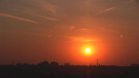 city sunset Stock Video Footage