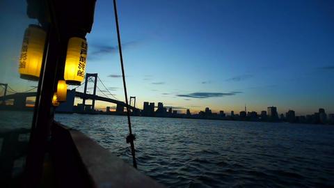 Japanese pleasure boat Footage