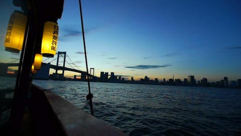 Japanese pleasure boat Stock Video Footage