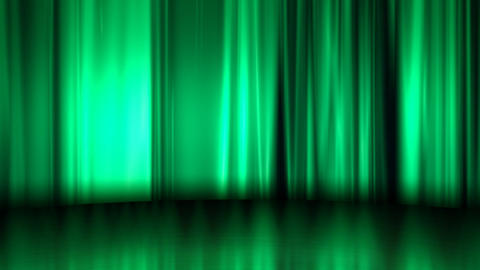 Curtain Stage Background Curtain Stage natural commerce green silk Animation