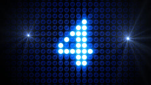 LED Countdown ArF4 HD Stock Video Footage