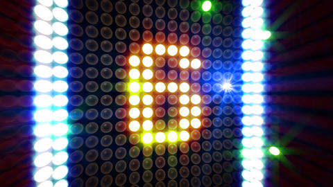LED Countdown ArR2 HD Stock Video Footage