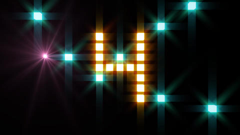 LED Countdown BbM3 HD Stock Video Footage