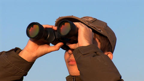 binocular 1 Stock Video Footage