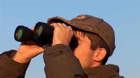 binocular 1 Stock Video Footage