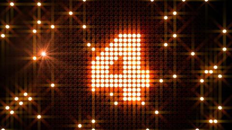 LED Countdown CbF2 HD Stock Video Footage