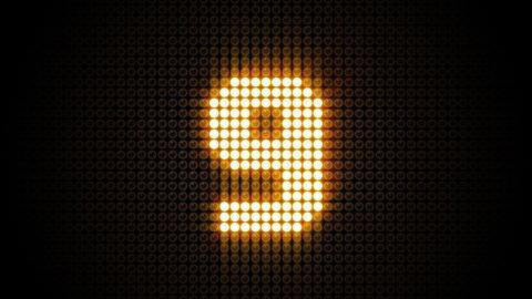 LED Countdown CbF4 HD Stock Video Footage