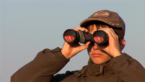 binocular 3 Stock Video Footage
