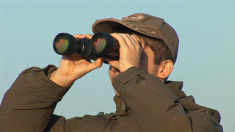 binocular 5 Stock Video Footage