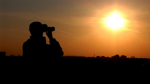 binocular 7 Stock Video Footage