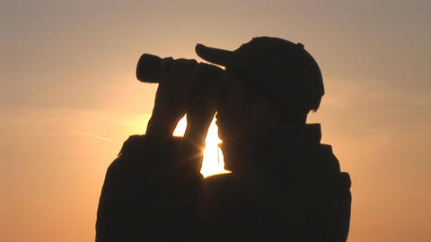 binocular 11 Stock Video Footage