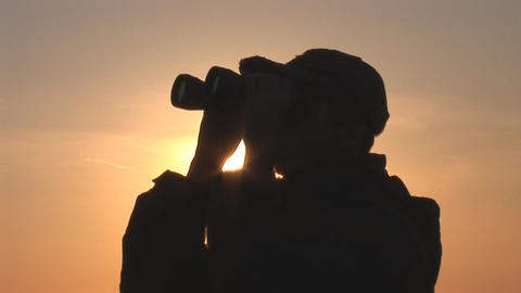 binocular 11 Stock Video Footage