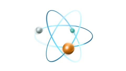 Atom radiation radioactive Nuclear reactor pollution Animation