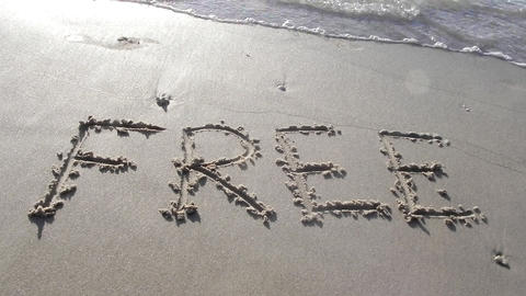free written on sand holiday vacation beach romantic... Stock Video Footage