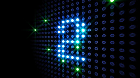 LED Countdown DbR3 HD Stock Video Footage