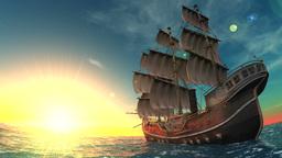 Sailing Boat Animation